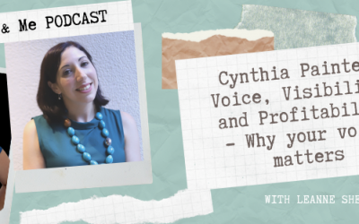 Ep3: Cynthia Painter – Voice, Visibility, and Profitability – Why your voice matters